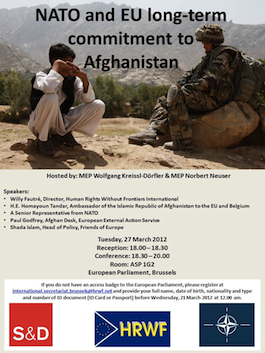 NATO and EU long-term commitment to human rights in Afghanistan