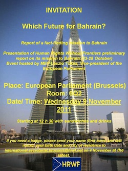 Report of a fact-finding mission to Bahrain