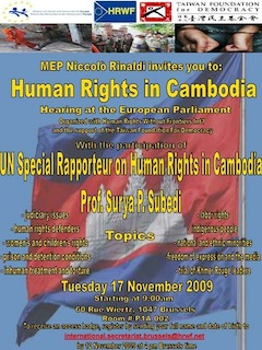 Cambodia: Hearing Human Rights with UN Special Rapporteur Prof Surya Subedi